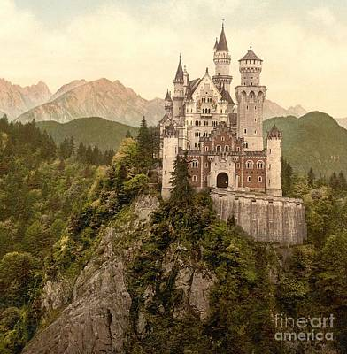 German Castle Neuschwanstein Poster by Padre Art