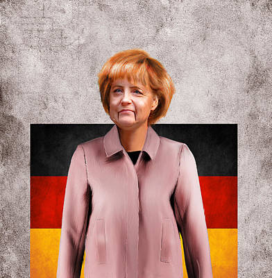 German Chancellor Angela Merkel  Poster by Lee went