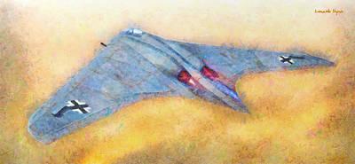 German Flying Wing - Pa Poster by Leonardo Digenio