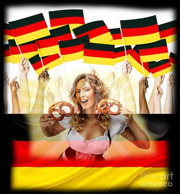 German Girl Poster