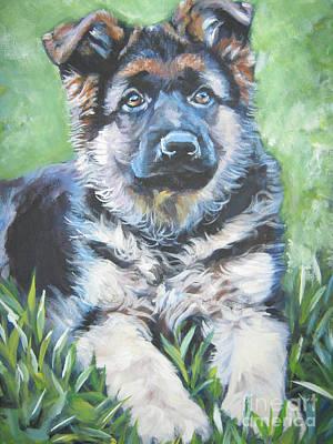 German Shepherd Puppy Poster by Lee Ann Shepard