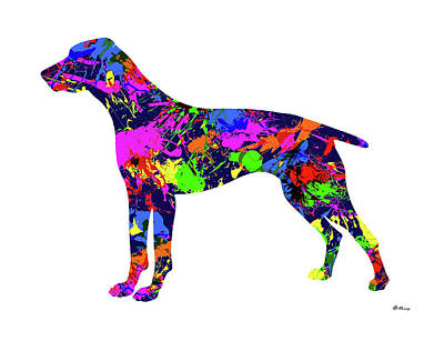 German Shorthaired Pointer Paint Splatter Poster by Gregory Murray