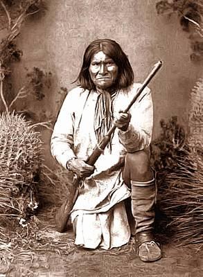 Geronimo Digital Painting Poster