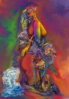 Poster featuring the digital art Get Away Wip by Karen Musick