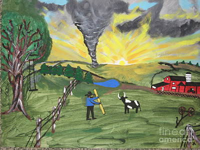 Poster featuring the painting Get In The Barn by Jeffrey Koss