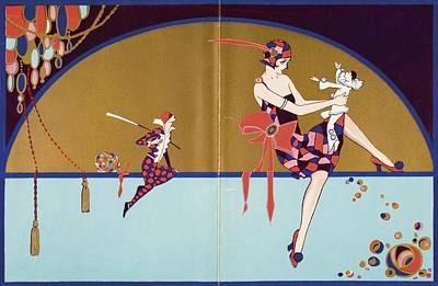Get-together Dinner Menu. Cunard West Poster by Vintage Design Pics