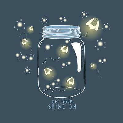 Poster featuring the digital art Get Your Shine On by Heather Applegate