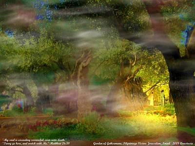 Poster featuring the photograph Gethsemane Vision-2008 by Anastasia Savage Ealy