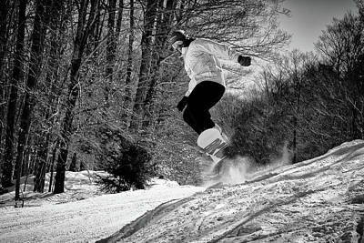 Poster featuring the photograph Getting Air On The Snowboard by David Patterson