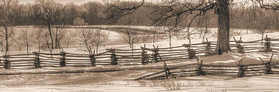 Gettysburg At Rest - We'll Be Home Before Dark - Phillip Synder Farm, Winter Poster