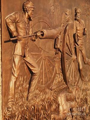 Gettysburg Bronze Relief Poster by Eric  Schiabor