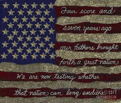 Gettysburg Homage Flag Poster by Carol Jacobs