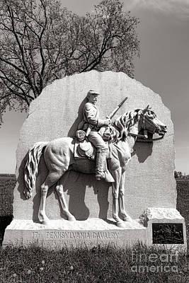 Gettysburg National Park 17th Pennsylvania Cavalry Monument Poster