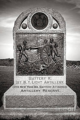 Gettysburg National Park 1st New York Light Artillery Monument Poster by Olivier Le Queinec