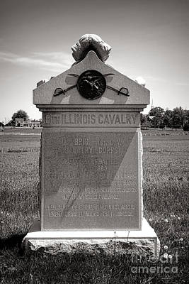 Gettysburg National Park 8th Illinois Cavalry Monument Poster by Olivier Le Queinec