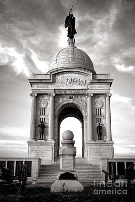 Gettysburg National Park Pennsylvania State Memorial Monument Poster by Olivier Le Queinec
