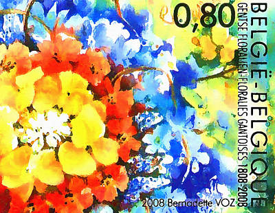 Ghent Flower Show Poster by Lanjee Chee