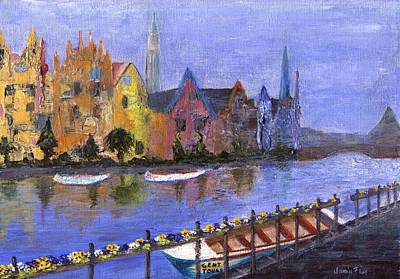 Poster featuring the painting Ghent by Jamie Frier