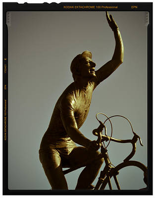 Ghisallo Statue Detail 1 Poster by Chuck Parsons