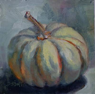 Ghost Pumpkin Poster by Donna Shortt
