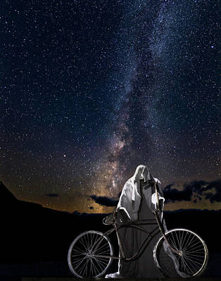 Ghost Rider Under The Milky Way. Poster
