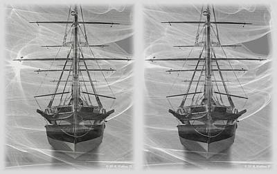 Ghost Ship - Gently Cross Your Eyes And Focus On The Middle Image Poster by Brian Wallace