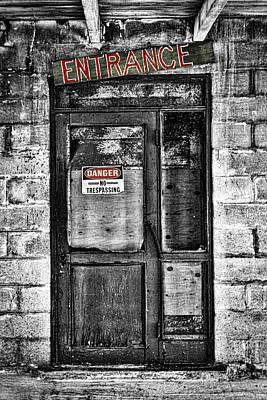Ghost Town Door Poster