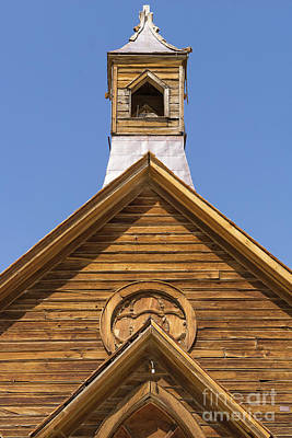 Ghost Town Of Bodie California Methodist Church Dsc4353 Poster by Wingsdomain Art and Photography