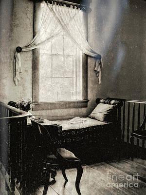 Ghostly Destrehan Plantation Poster by Kathleen K Parker