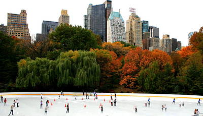 Ghosts At Wollman Rink Central Park Poster