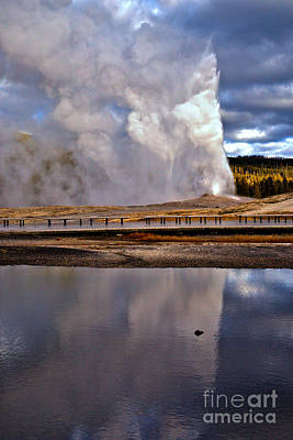 Ghosts Of Old Faithful Poster by Adam Jewell