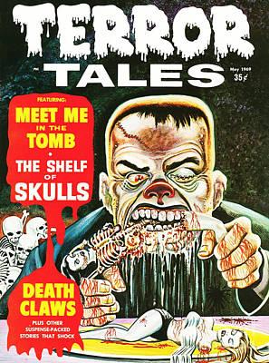 Ghoul Eats Corncob Ribs Horror Comic Restored Poster