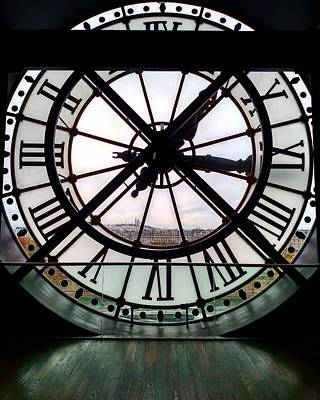 Giant Clock At Musee D'orsay Poster