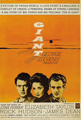 Giant, From Left Rock Hudson, Elizabeth Poster by Everett