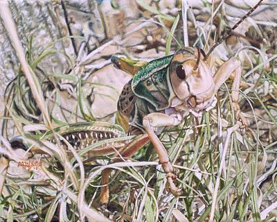 Giant Grasshopper Poster
