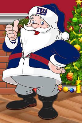 Giants Santa Claus Poster by Joe Hamilton