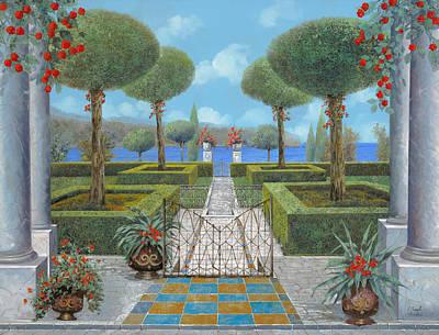 Giardino Italiano Poster by Guido Borelli