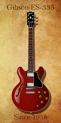 Gibson Es-335 Since 1958 Poster
