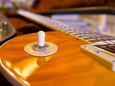 Yellow Quilt Guitar Top Poster