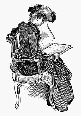 Gibson: Woman Reading Poster