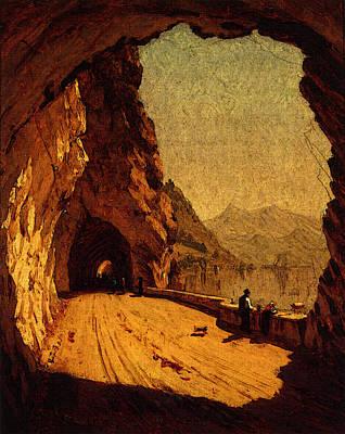 Gifford Sanford Robinson Stelvio Road By Lago Di Como Poster