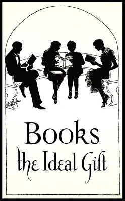 Poster featuring the photograph Gift Books 1920 by Padre Art