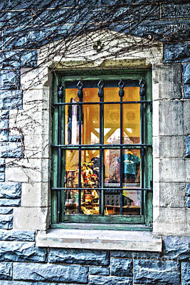 Poster featuring the photograph Gift Shop Window by Sandy Moulder