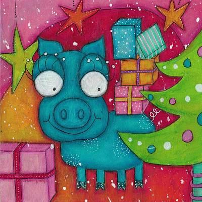 Gifting Piggy Poster by Barbara Orenya