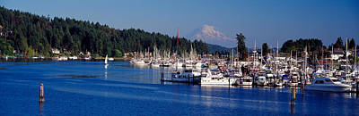 Gig Harbor With Mt Rainier Poster