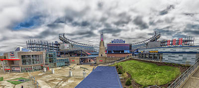 Gillette Stadium And The Hall At Patriot Place Poster by Brian MacLean