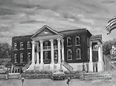 Gilmer County Old Courthouse - Black And White Poster