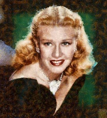 Ginger Rogers Hollywood Actress And Dancer Poster