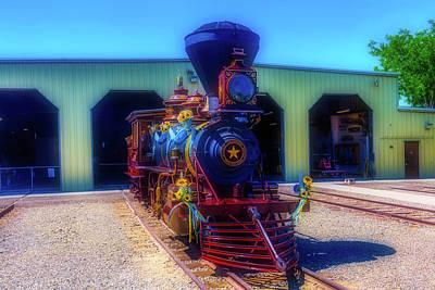 Gingerbread Locomotive Poster