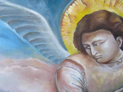 Giotto's Angel Of Epiphany Poster by Maria Milazzo